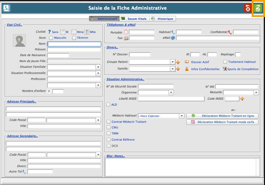 La fiche administrative